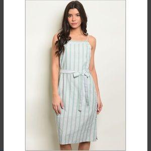 🌵Bohemia spaghetti-neck striped dress